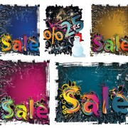 Link toWinter discount sales background vector material