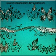 Link toOrnamental butterfly photoshop brushes