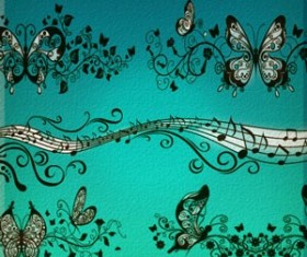 Ornamental ButterFly Photoshop Brushes