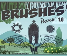 My Little Brushy 1.0 Photoshop Brushes