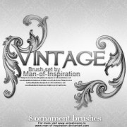 Link toVintage brush set photoshop brushes