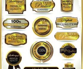 Vintage guarantee premium labels vector 05