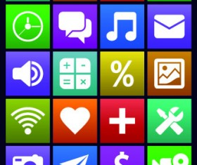 Vintage mobile phone icons 02