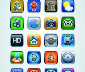 Vintage mobile phone icons 04