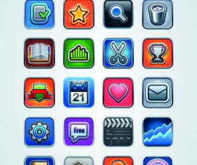 Vintage mobile phone icons 05