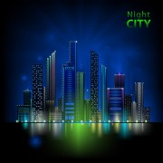 Link toBeautiful night city vector 03