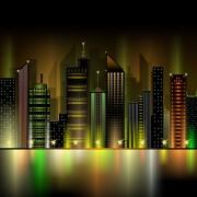 Link toBeautiful night city vector 04