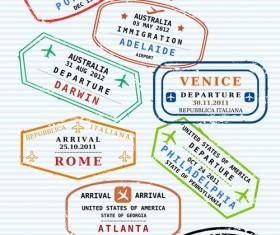 Different passports template vector 01