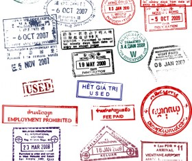 Different passports template vector 02