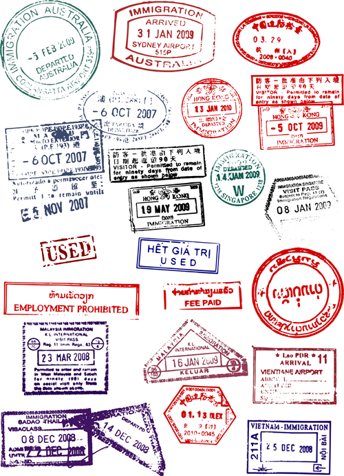 Different passports template vector 02 - Vector Label free download
