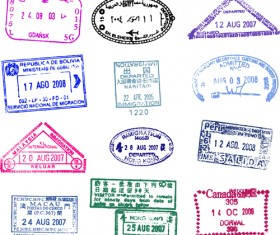 Different passports template vector 03