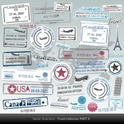 Link toVector passport stamps design set 05