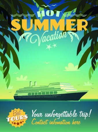 poster travel design elements vector 04 free download