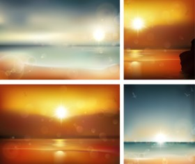 Charming Sea landscape vector 01