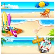 Link toCharming sea landscape vector 02