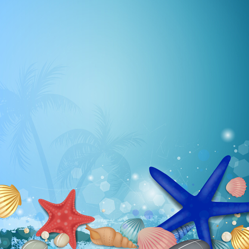 Shiny Summer background vector 03