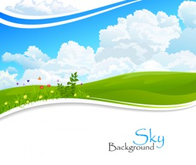 Shiny Summer background vector 08