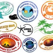 Link toVintage travel stamps elements vector 02