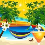 Link toBeautiful tropic landscape vector 01