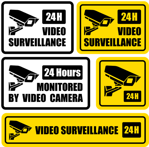 Vector Video surveillance design elements 01