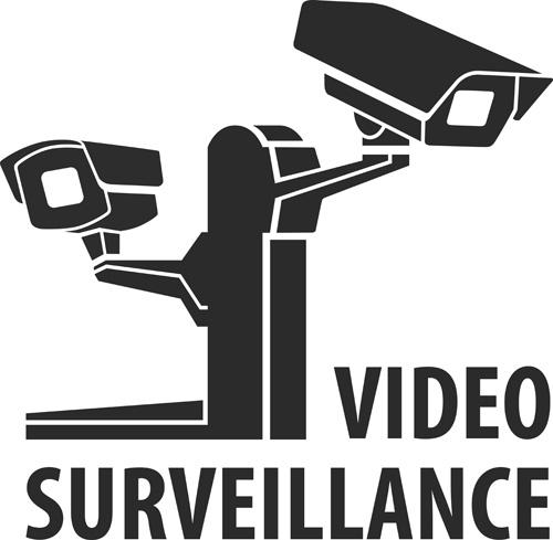 Vector Video surveillance design elements 02