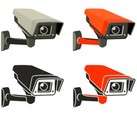 Vector Video surveillance design elements 03