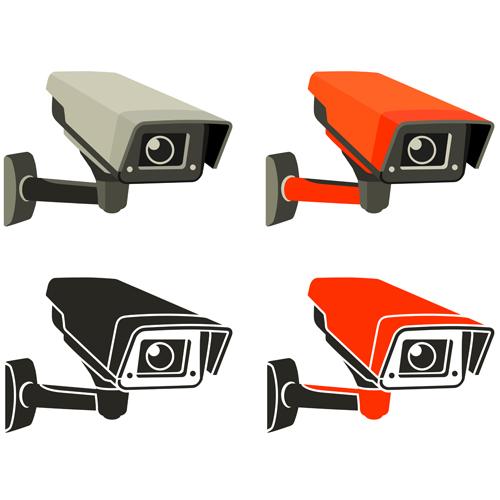 Vector Video surveillance design elements 03