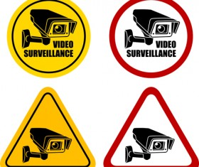 Vector Video surveillance design elements 04