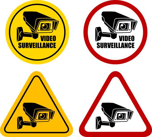 Vector Video surveillance design elements 04
