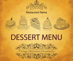 vintage Restaurant menu design vector 03