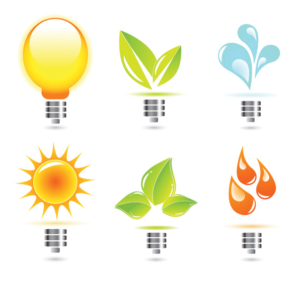 Creative lighting Icon vector