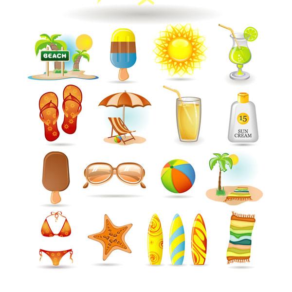 Summer icon vector vector