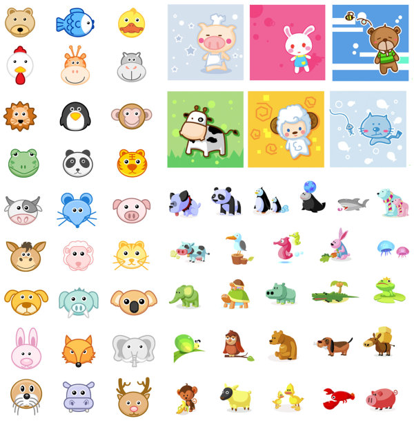 Animal icon vector set 02 vector