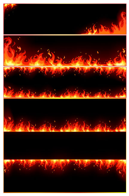 combustion flame border vector free download