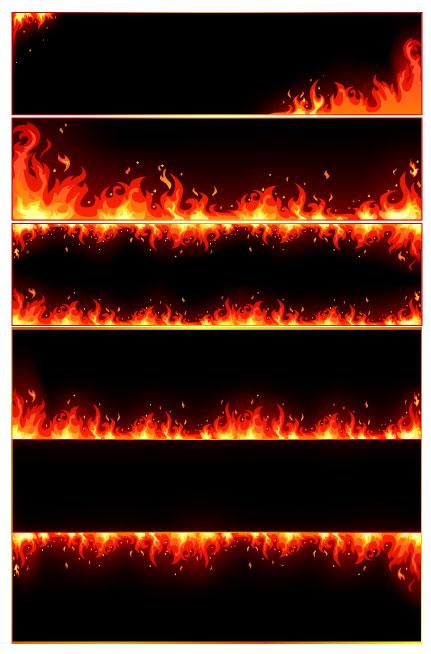 Border Burning Flames