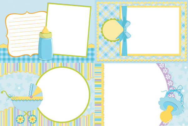 Baby photo vector - Vector Frames & Borders free download