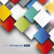 Link to3d color geometric shapes vector background
