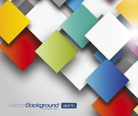 3D Color Geometric shapes vector background