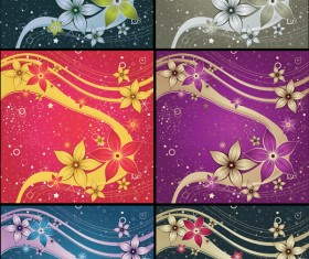 Decorative color pattern background design elements