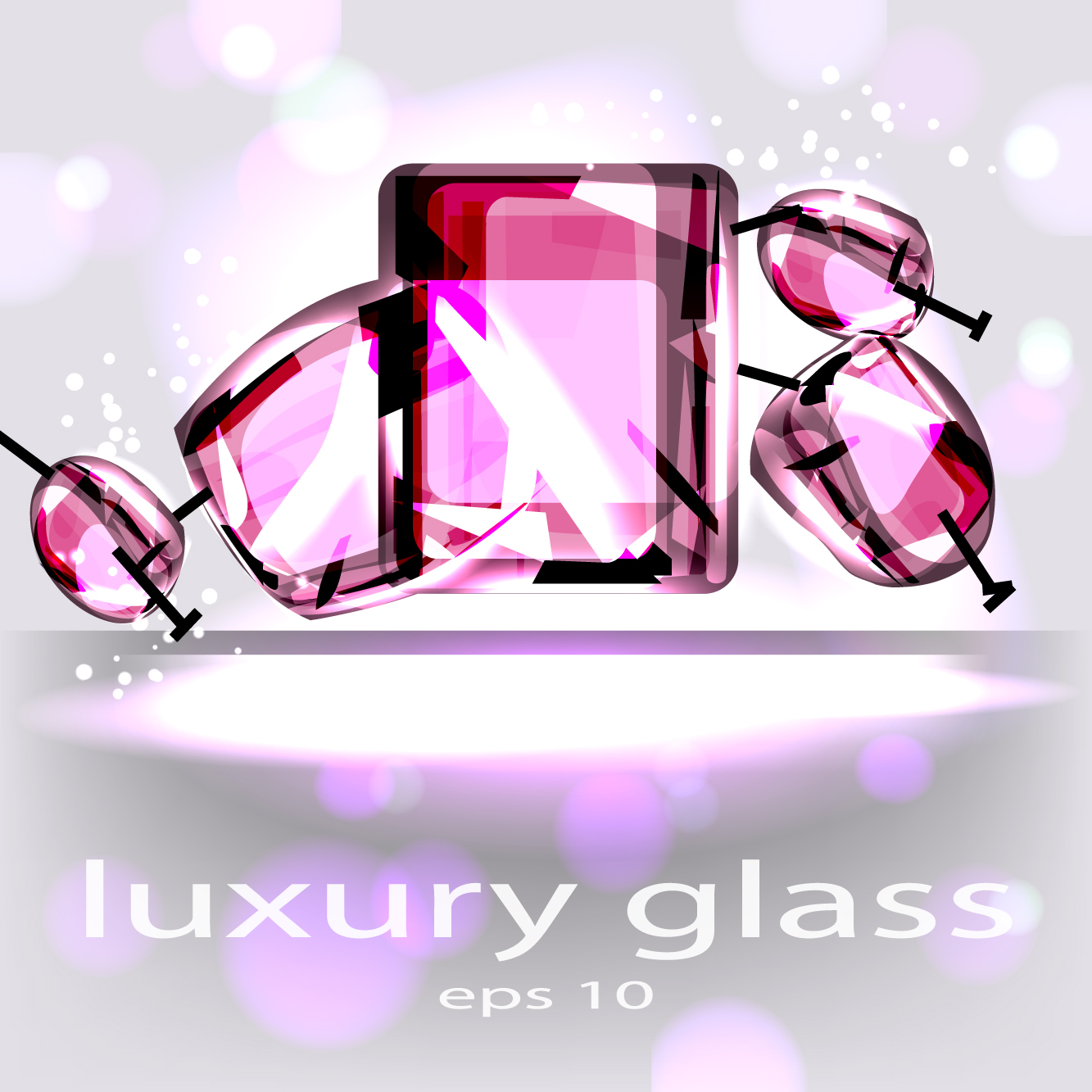 Sparkling Glass elements background vector 01