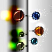 Link toSparkling glass elements background vector 02