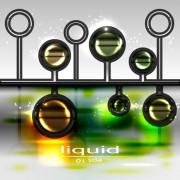 Link toSparkling glass elements background vector 04