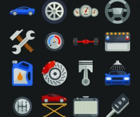 Auto service design elements vector 02
