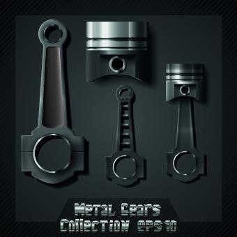 Auto service design elements vector 03