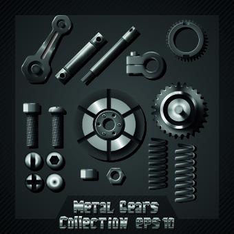 Auto service design elements vector 05