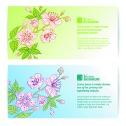Link toBamboo with flowers vector background 04