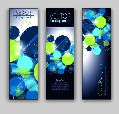Blue Style Vertical banner vector 01