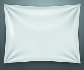 Textile on the wall banner vector 01