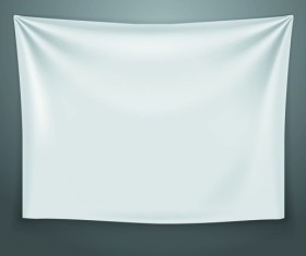 Textile on the wall banner vector 02