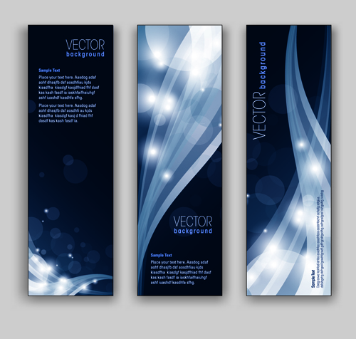 Blue Style Vertical banner vector 03 - Vector Banner free download